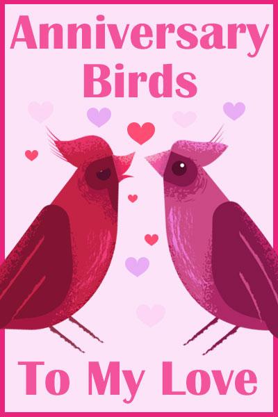 Anniversary Birds - to My Love